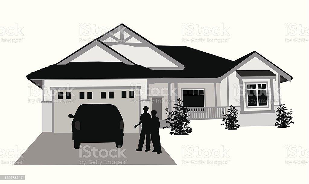 Homey  Vector Silhouette vector art illustration