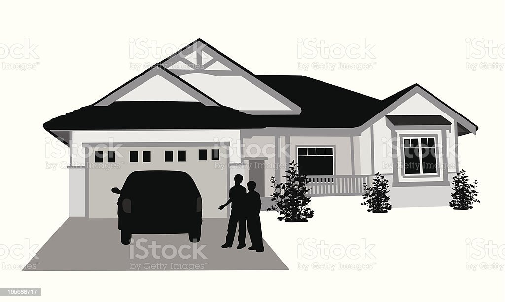 Homey  Vector Silhouette vector art illustration