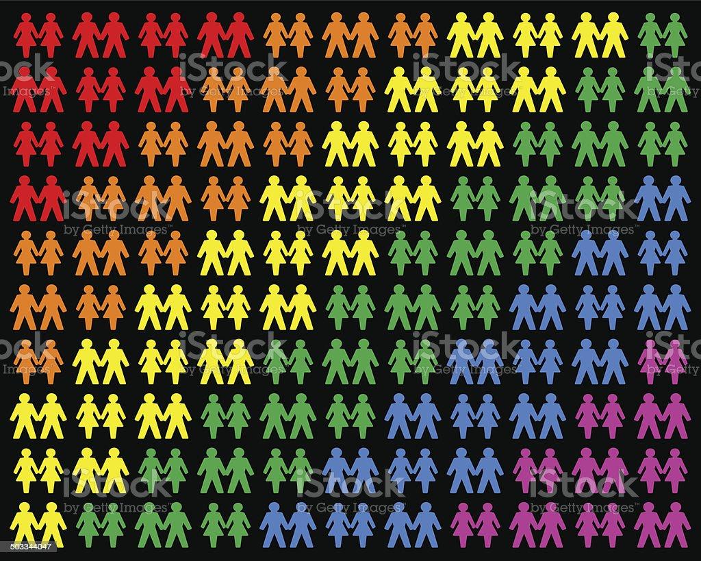 Homosexual Couples vector art illustration