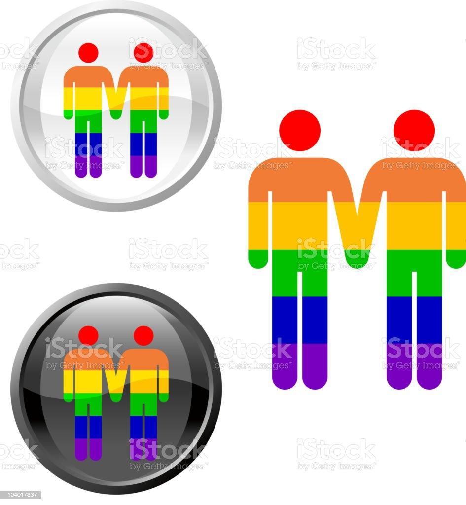 homosexual royalty free vector art button set royalty-free stock vector art