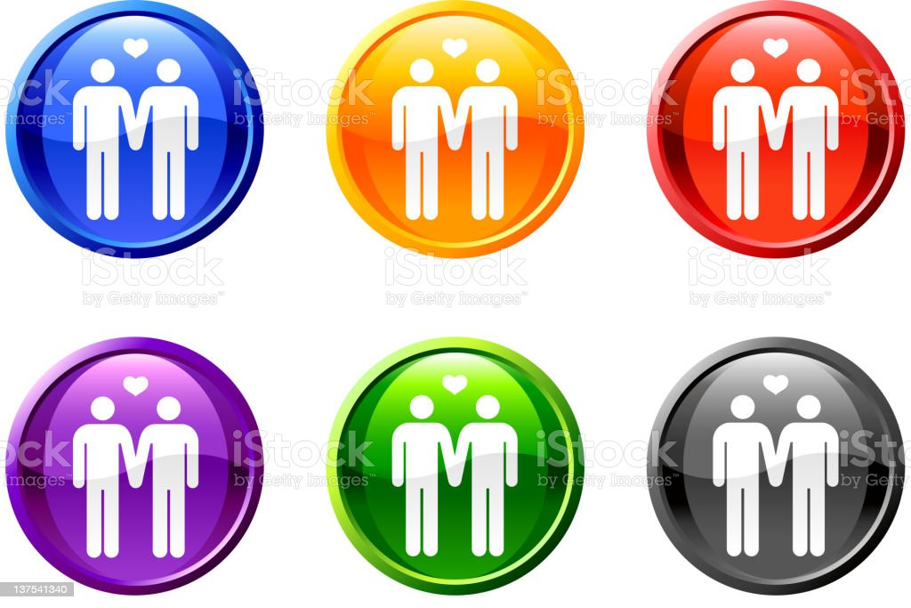 homosexual royalty free vector icon set on round shiny buttons royalty-free stock vector art