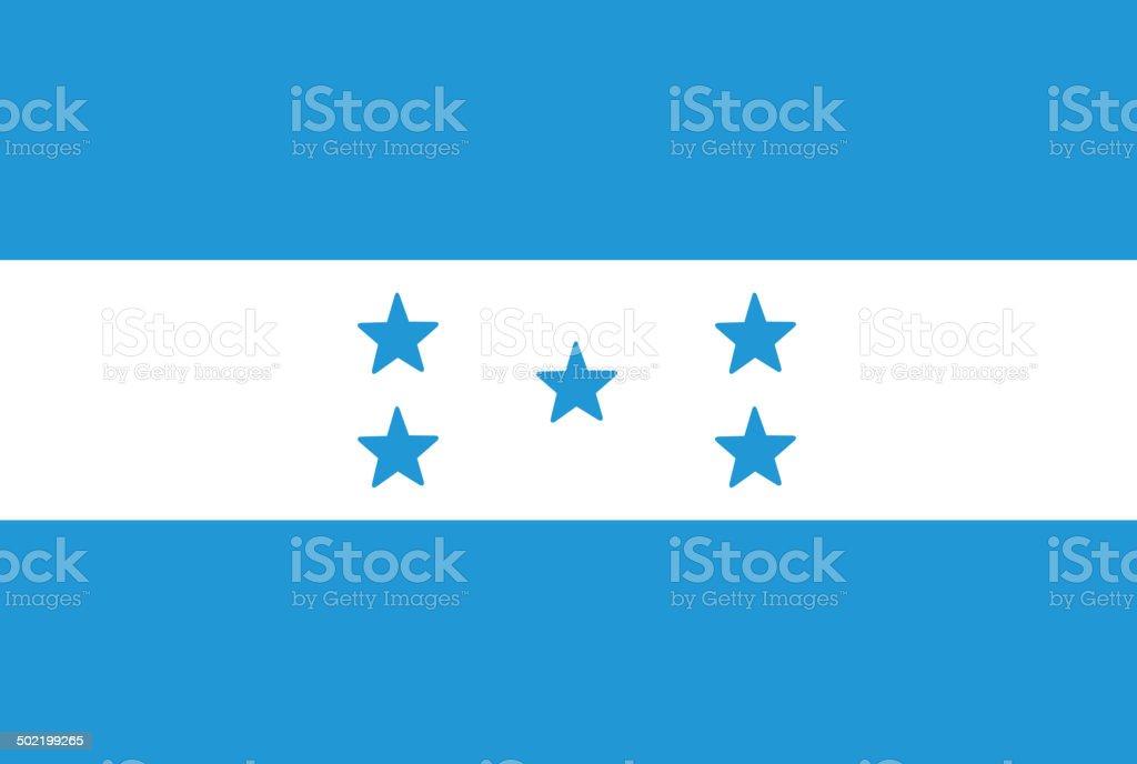 Honduras flag. Vector vector art illustration