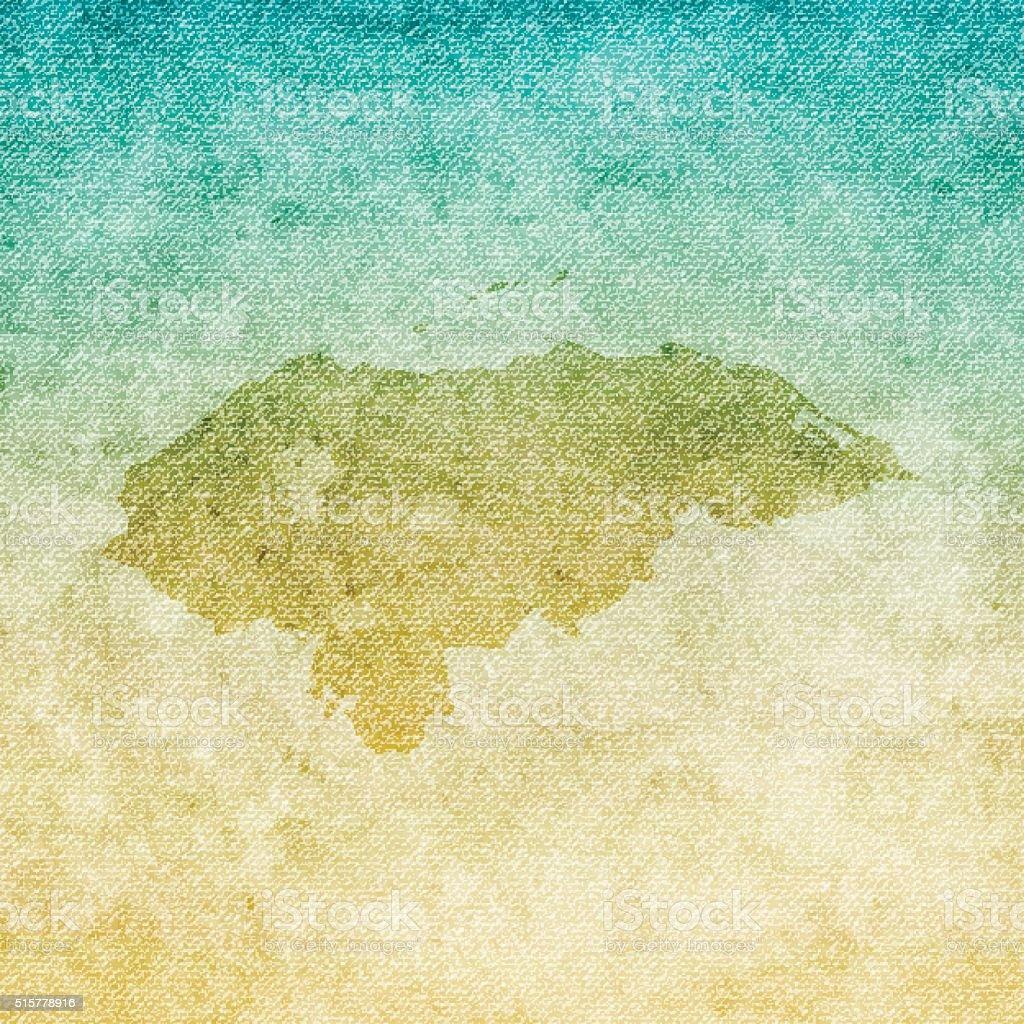 Honduras Map on grunge Canvas Background vector art illustration