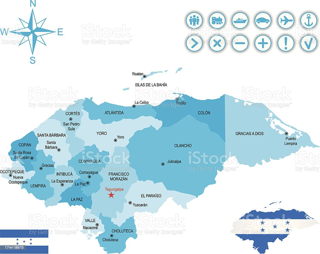 Honduras royalty-free stock vector art