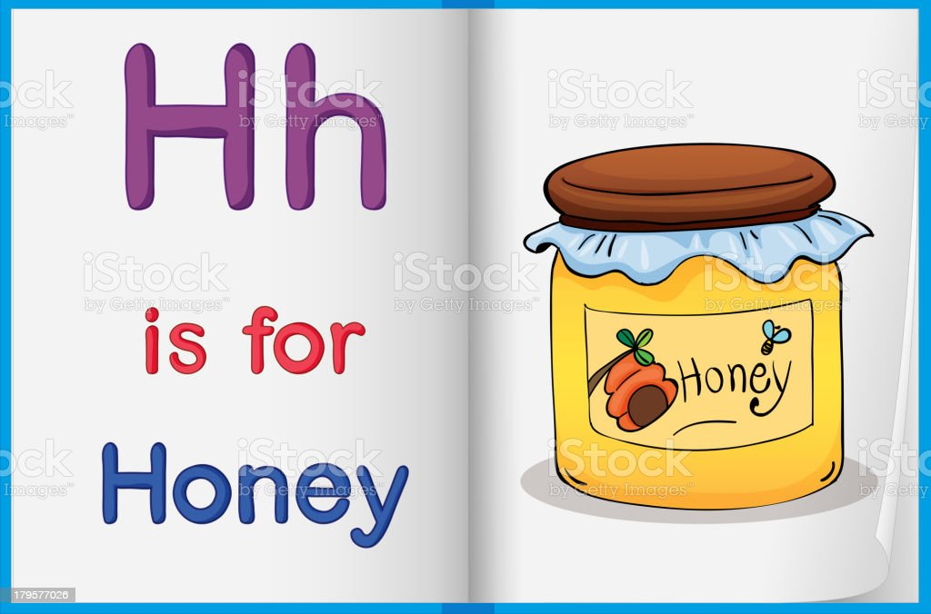 Honey and a book royalty-free stock vector art