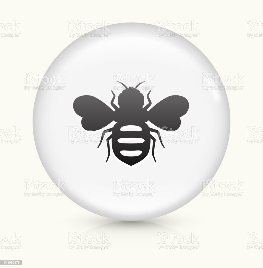 Honey Bees icon on white round vector button vector art illustration
