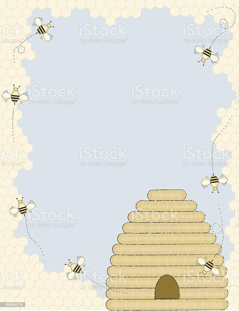Honey bees royalty-free stock vector art