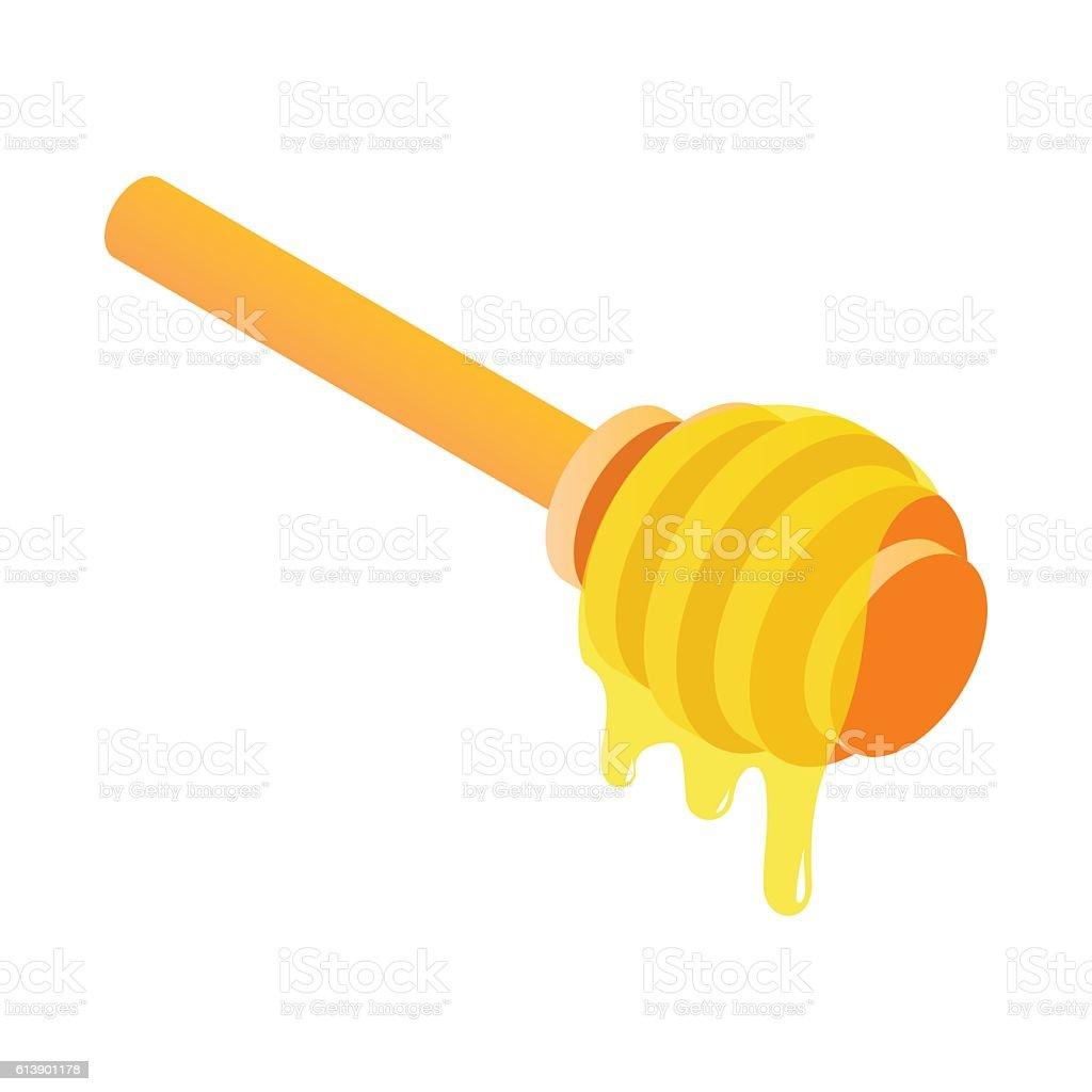 Honey dipper isometric 3d icon vector art illustration