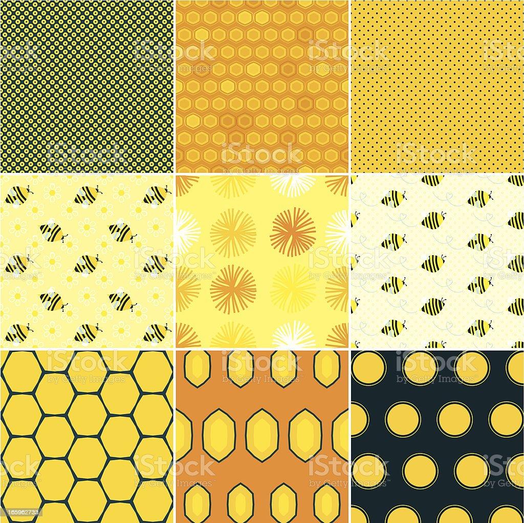 Honey Patterns royalty-free stock vector art