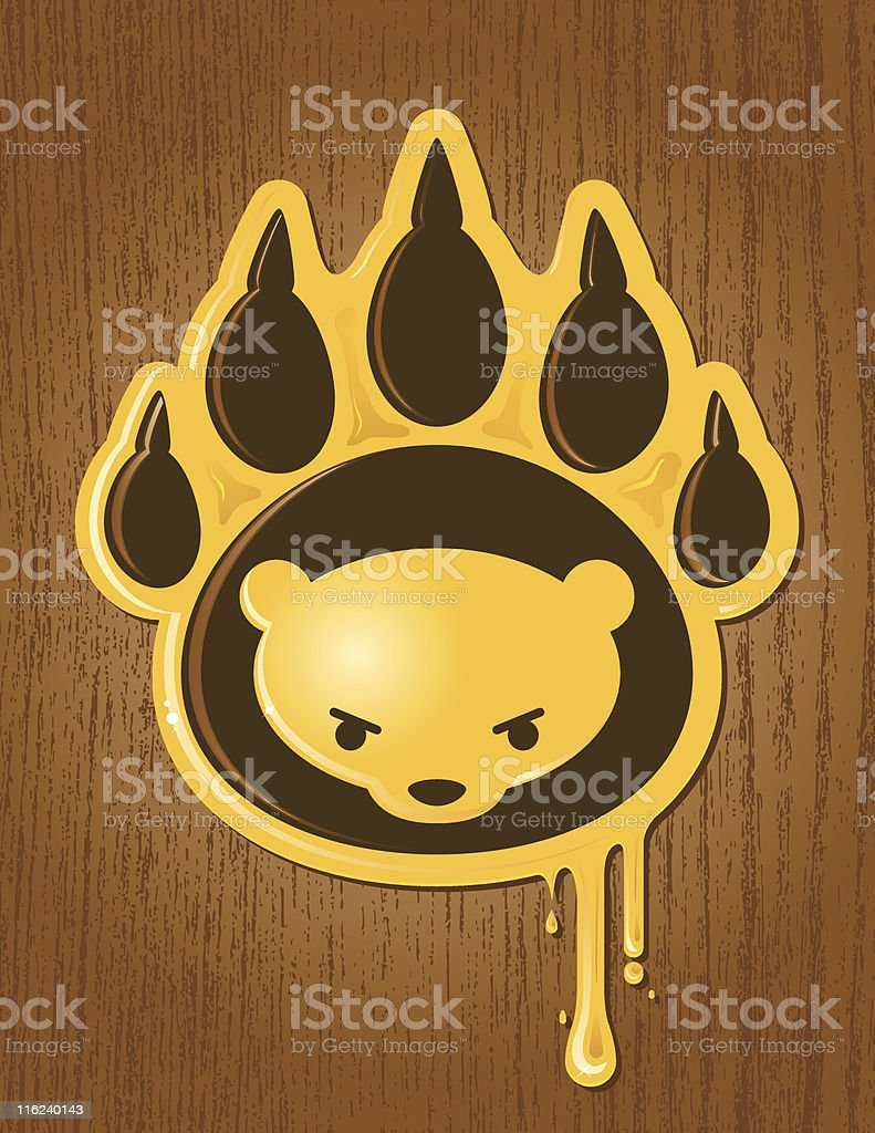 Honey Paw royalty-free stock vector art