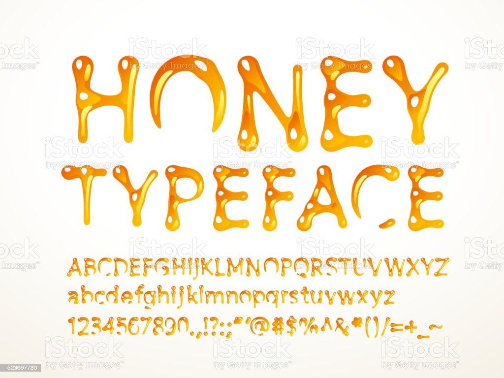 Honey typeface vector art illustration