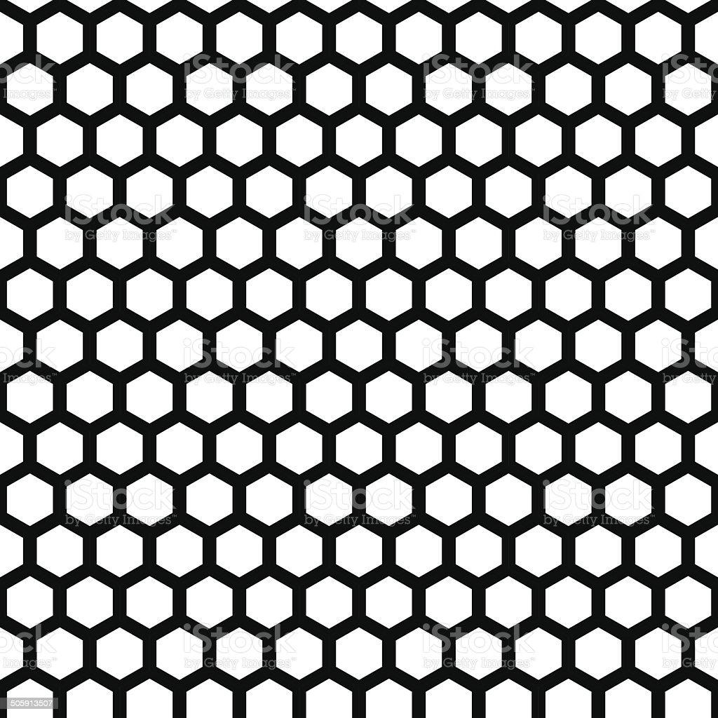 honeycomb seamless pattern vector art illustration