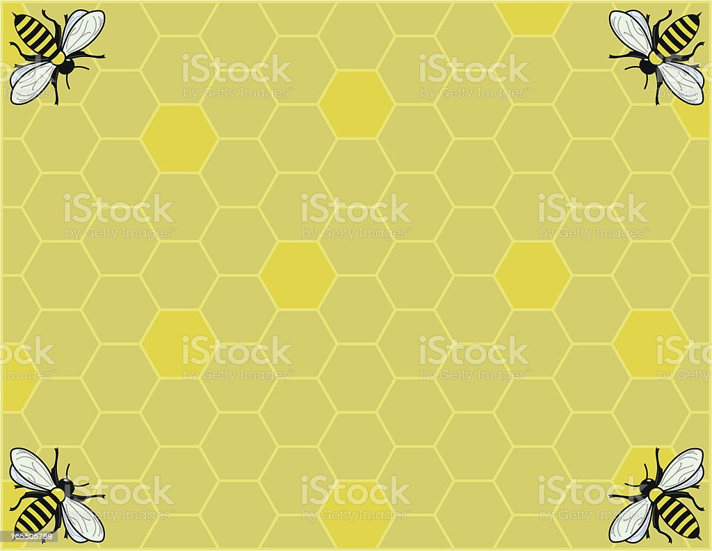 Honeycomb vector art illustration