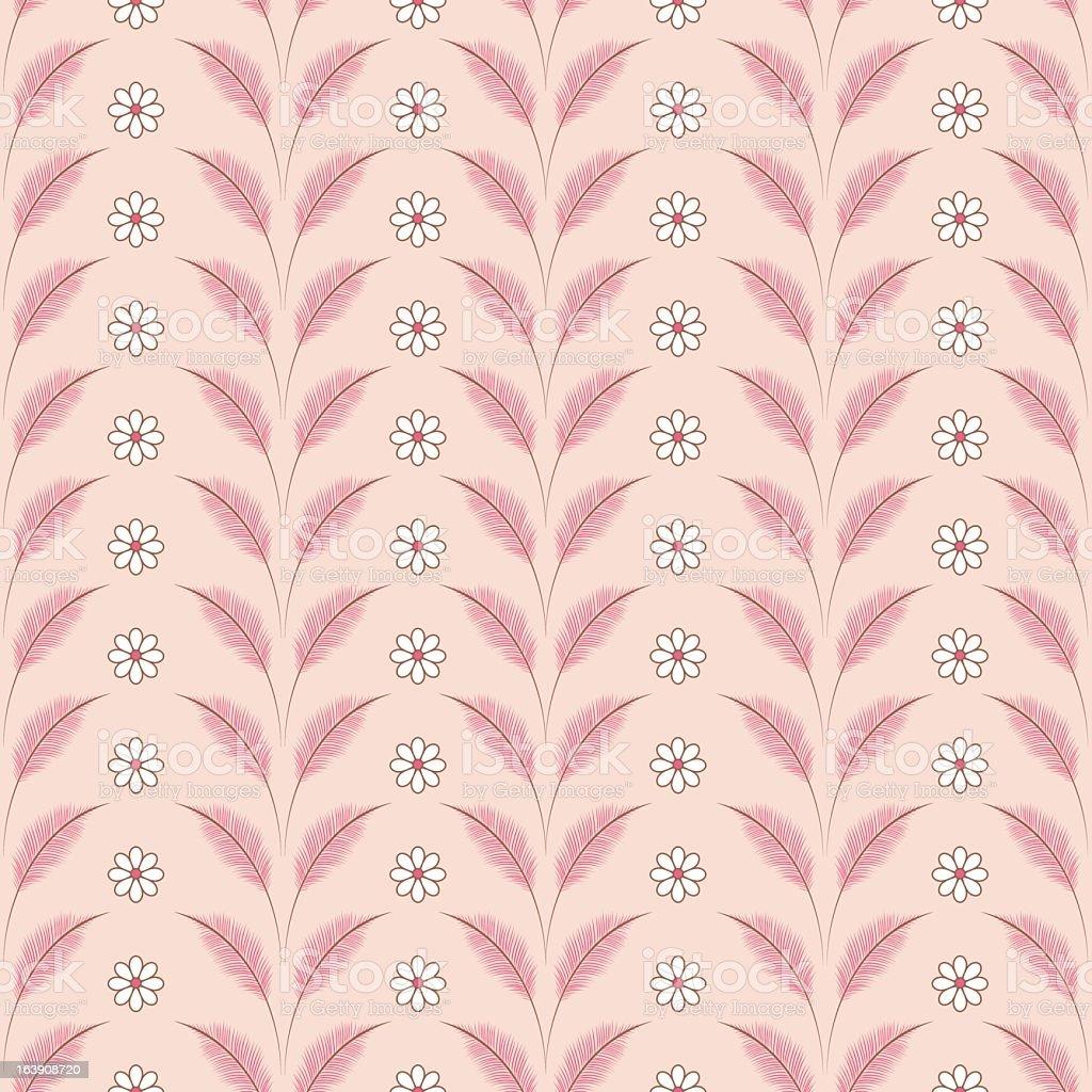 Honeysuckle Feather & Daisy Pattern royalty-free stock vector art