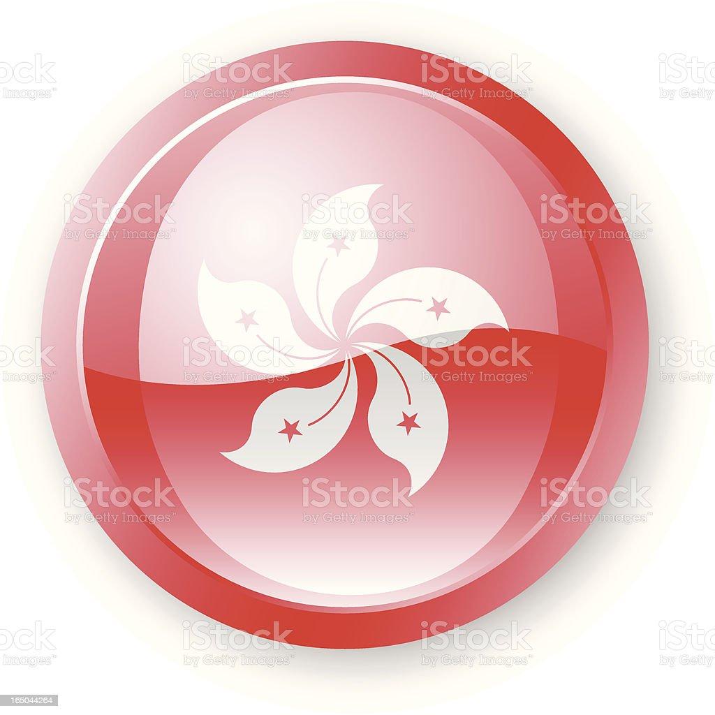 Hong Kong Flag Icon royalty-free stock vector art