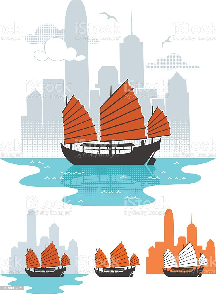 Hong Kong vector art illustration