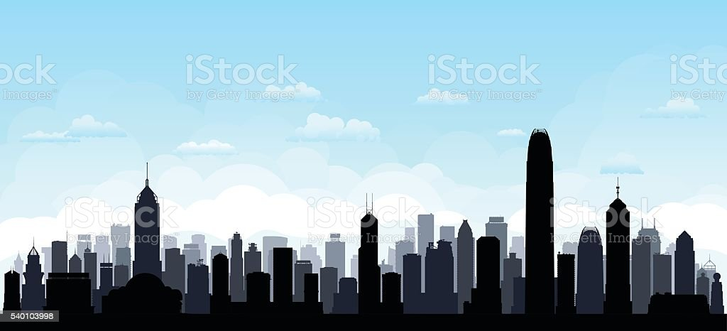 Hong Kong (Every Building is Complete and Moveable) vector art illustration