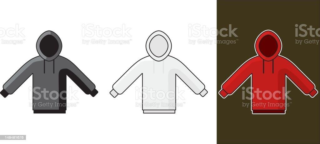 hooded boys sweatshirt royalty-free stock vector art