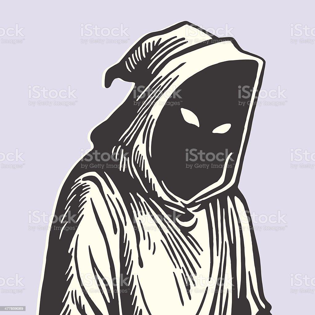 Hooded Grim Reaper royalty-free stock vector art