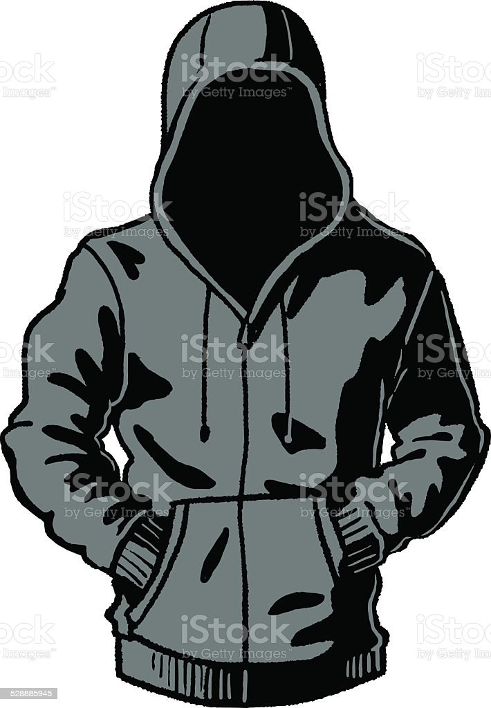 hoodie vector art illustration