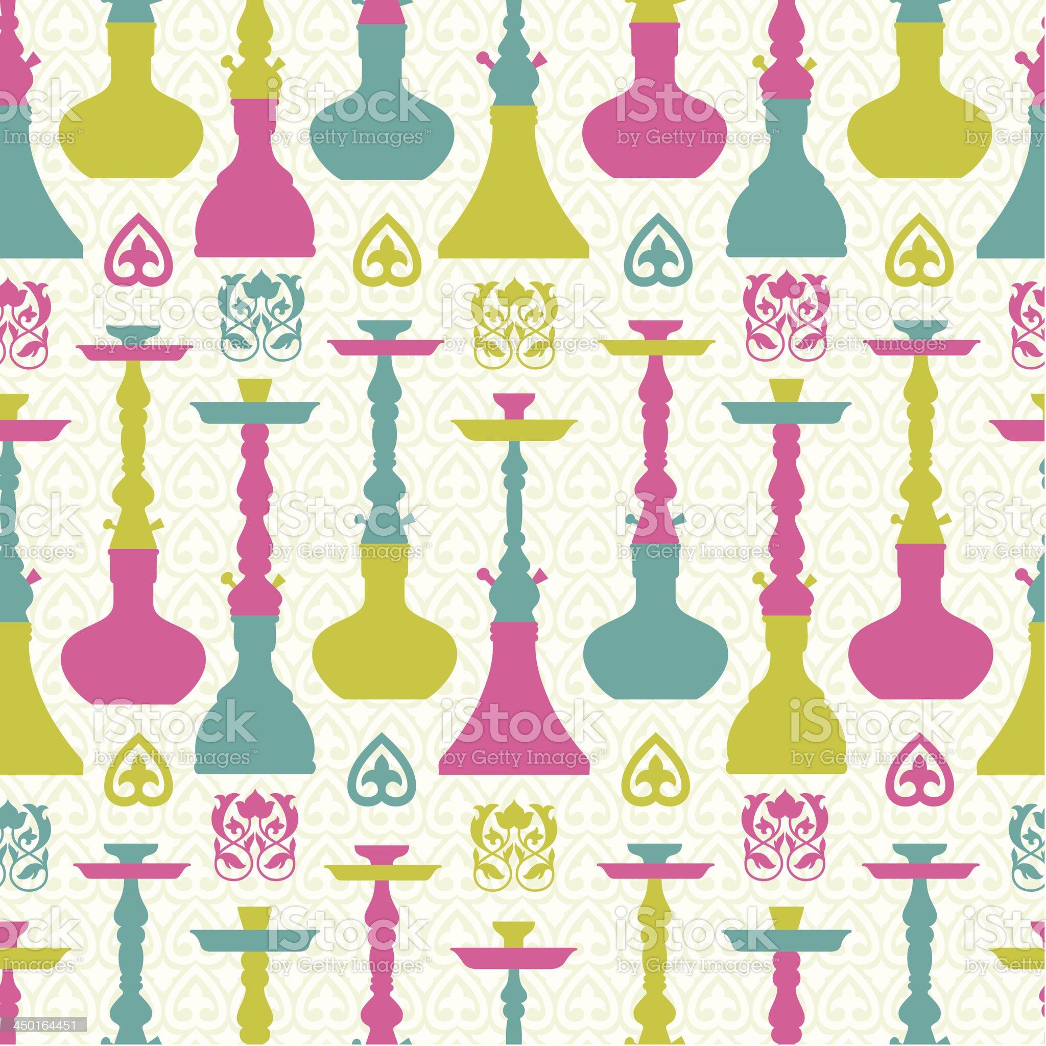 Hookah seamless pattern royalty-free stock vector art