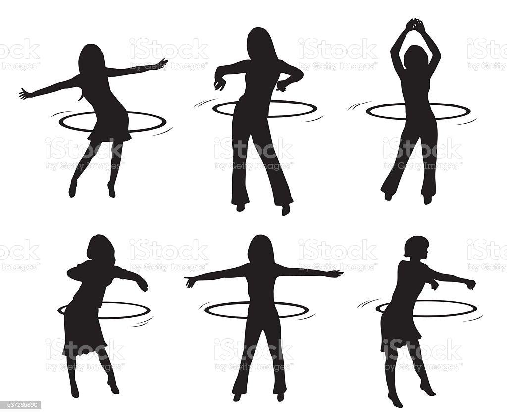 Hoola Hoops vector art illustration