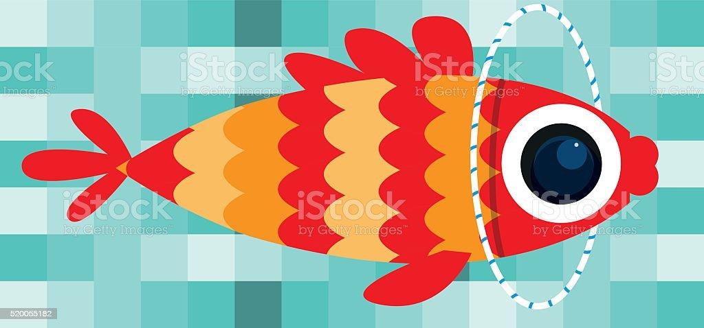 Hoolahoop fish vector art illustration