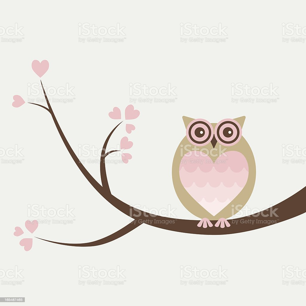 Hooooo Do You Love? royalty-free stock vector art
