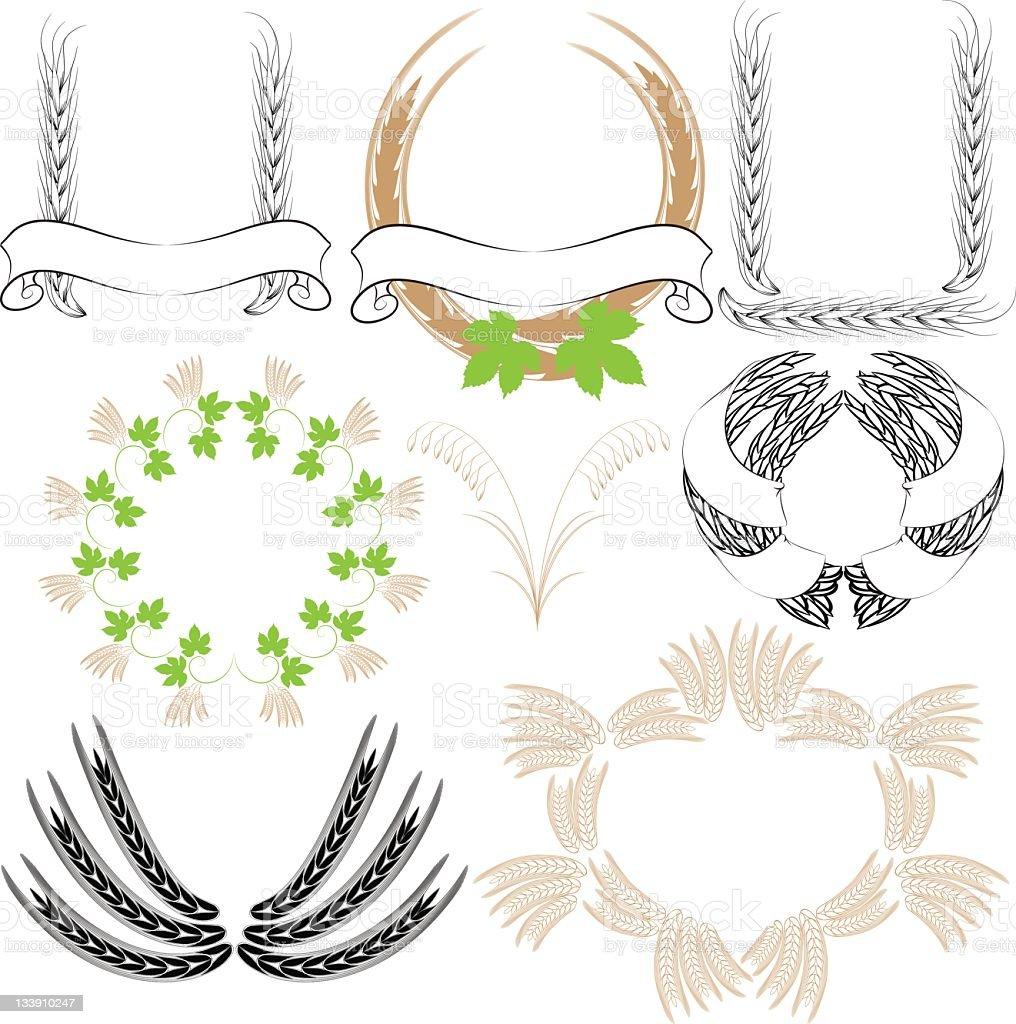 Hop and barley royalty-free stock vector art