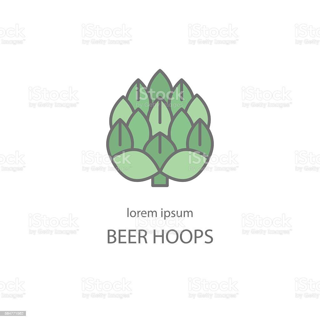Hop craft beer logo. vector art illustration