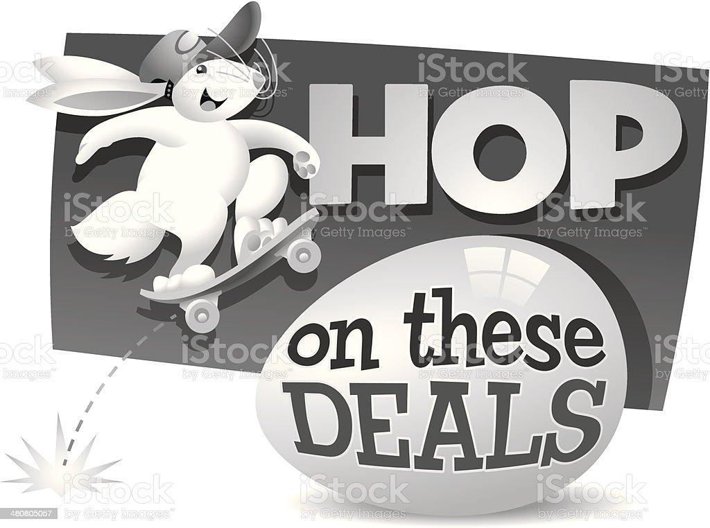 Hop Heading vector art illustration