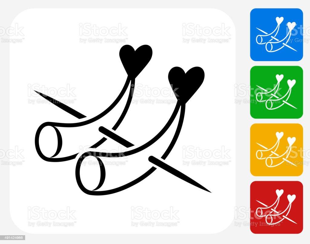 Horderves Icon Flat Graphic Design vector art illustration