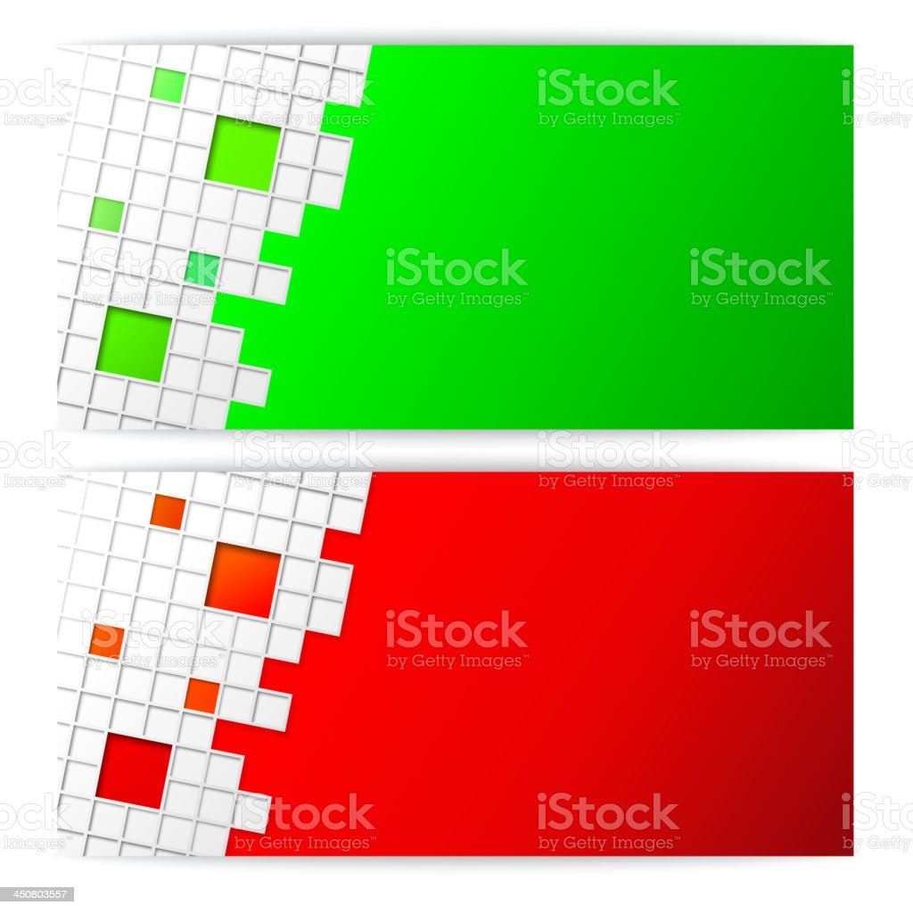 Horisontal square cards set. royalty-free stock vector art