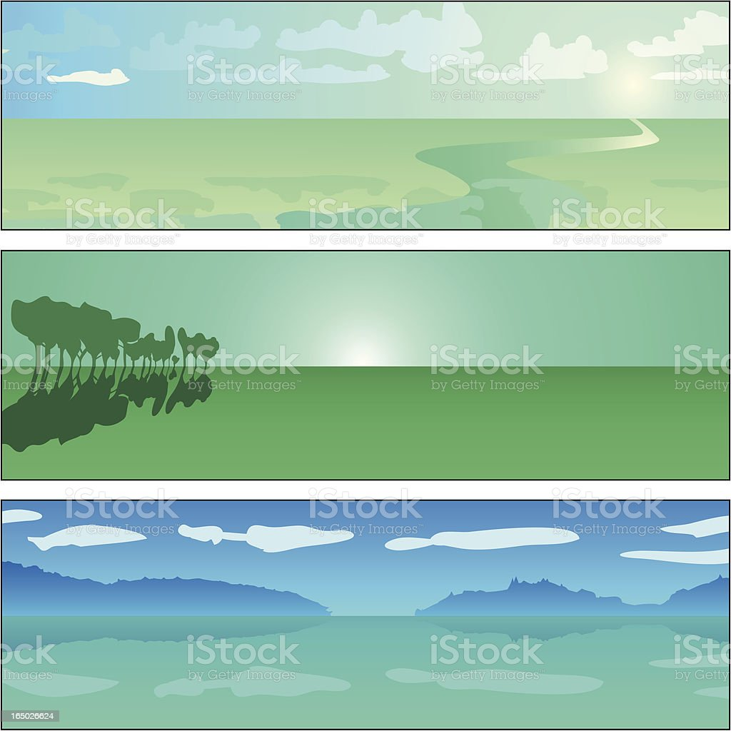 Horizon Sunrise Tablets royalty-free stock vector art