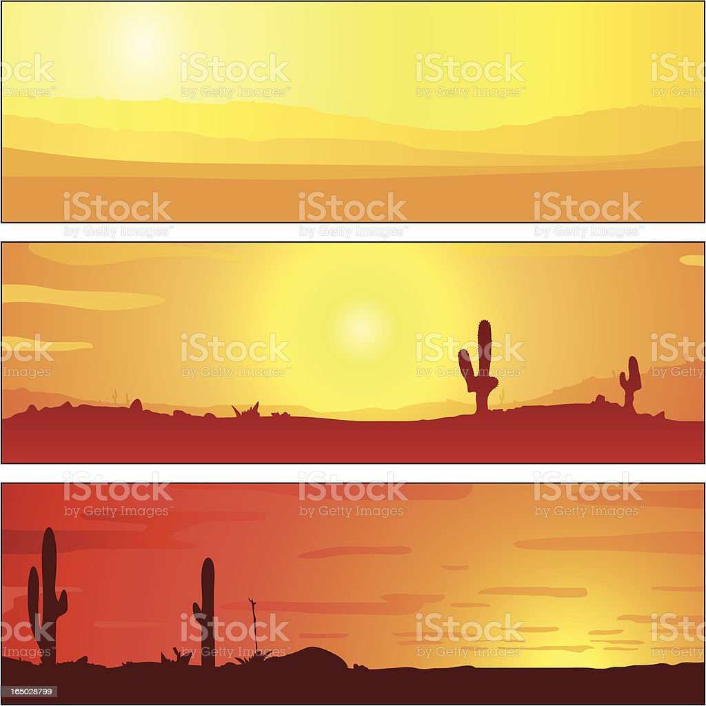 Horizon Sunset Tablets vector art illustration