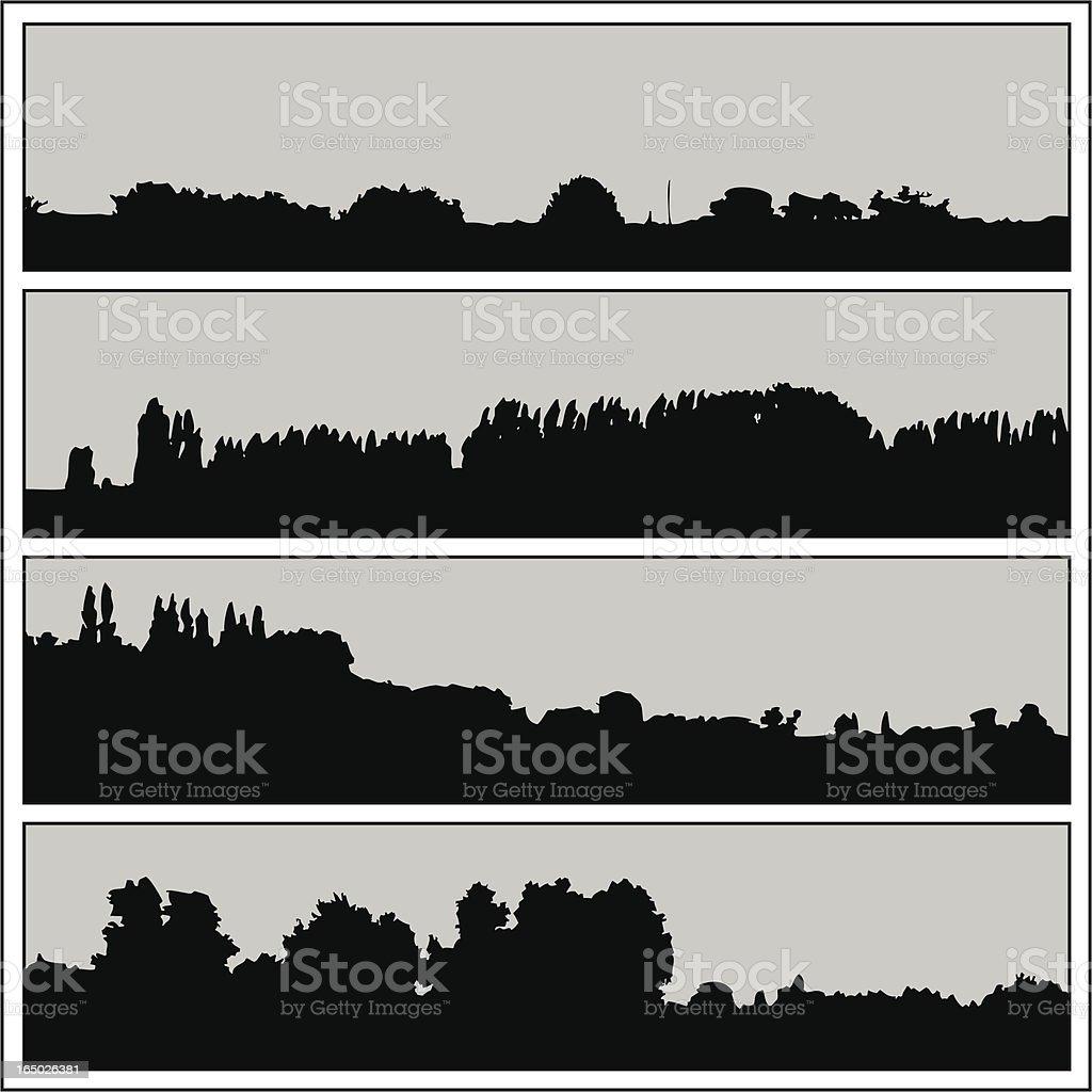 Horizons 01 royalty-free stock vector art