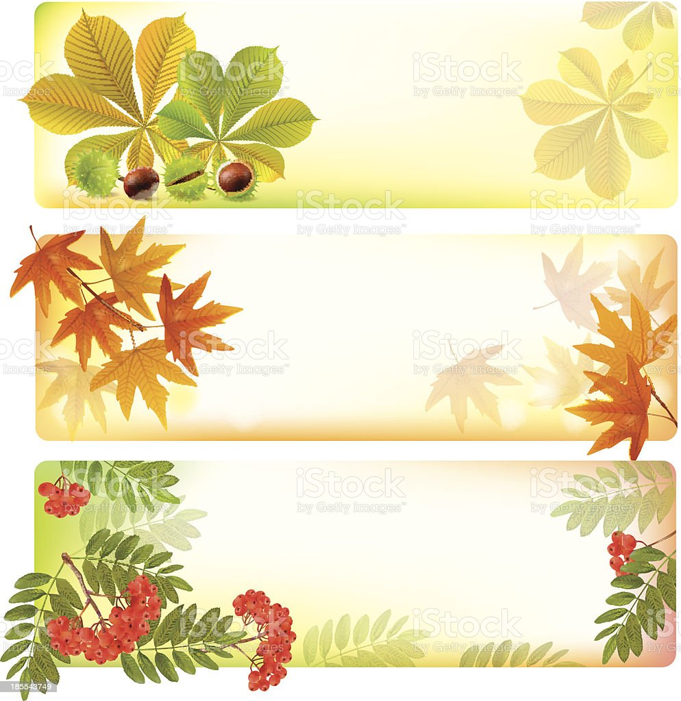 Horizontal autumn banners royalty-free stock vector art