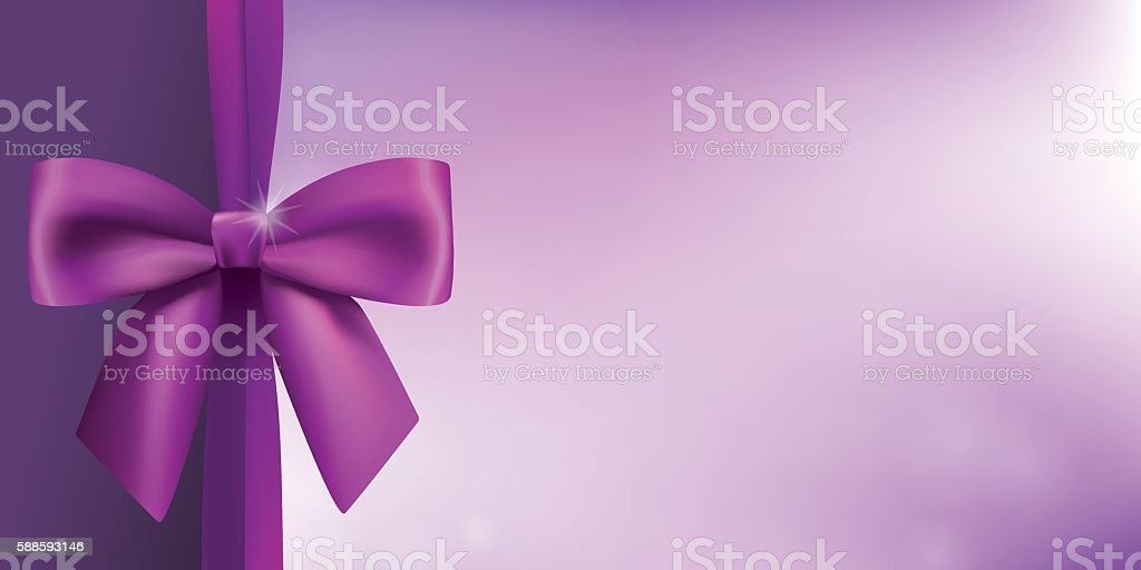 Horizontal background with a satin bow in proportion of 1:2 vector art illustration