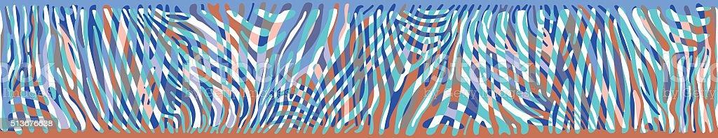 Horizontal background with colorful Zebra skin vector art illustration