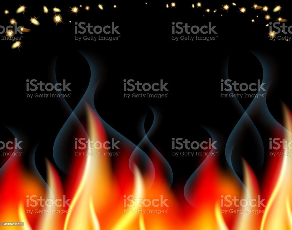 Horizontal banner Backyard Bonfire background template vector art illustration