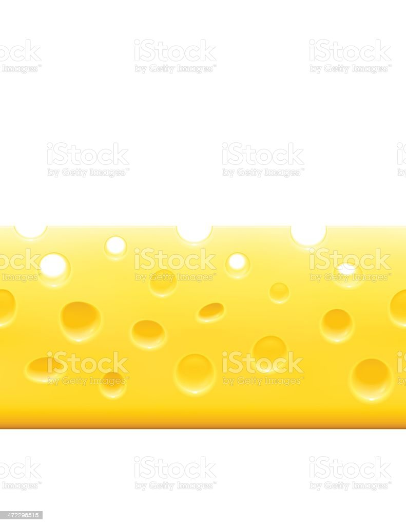 Horizontal Cheese Background vector art illustration