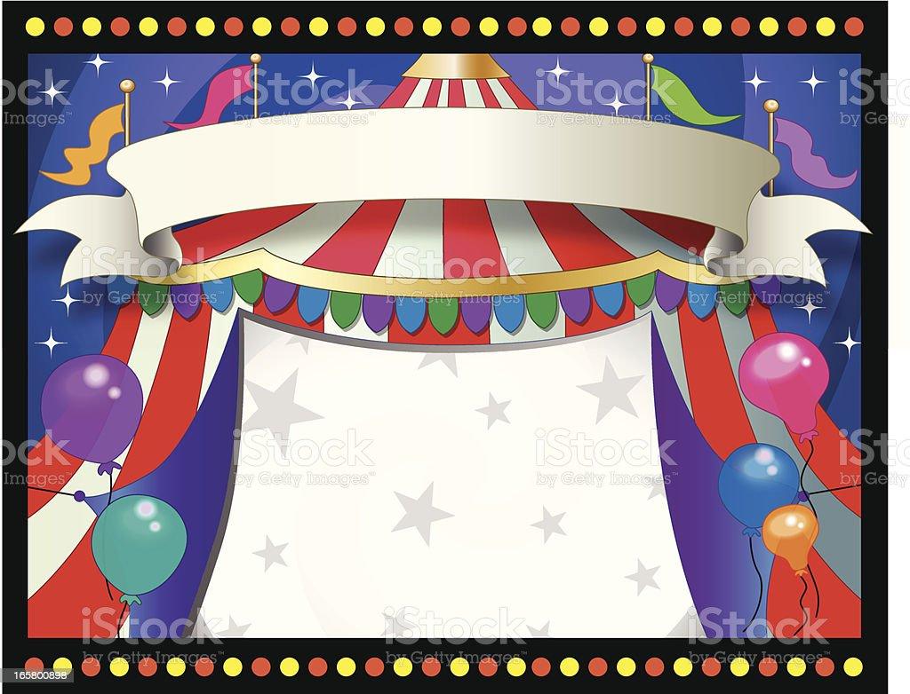 horizontal circus theme background  frame vector art illustration