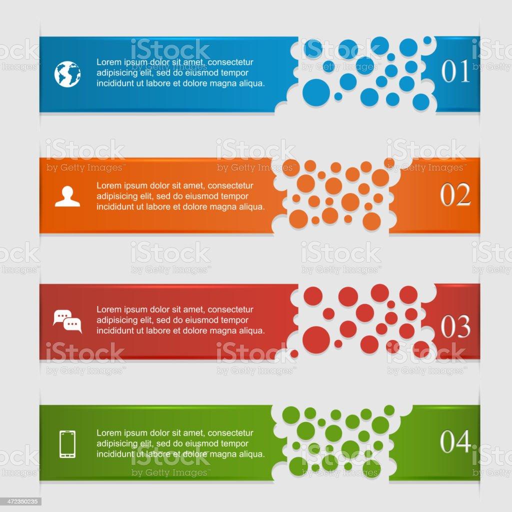 Horizontal infographics royalty-free stock vector art