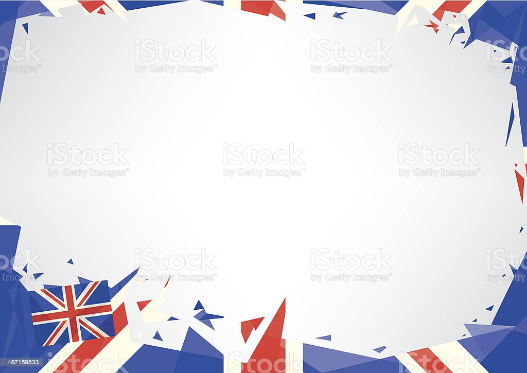Horizontal poster origami of UK vector art illustration