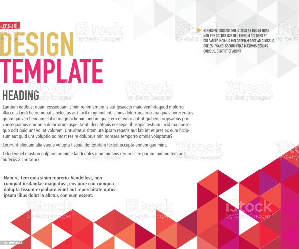 Horizontal Presentation template with sample text layout vector art illustration