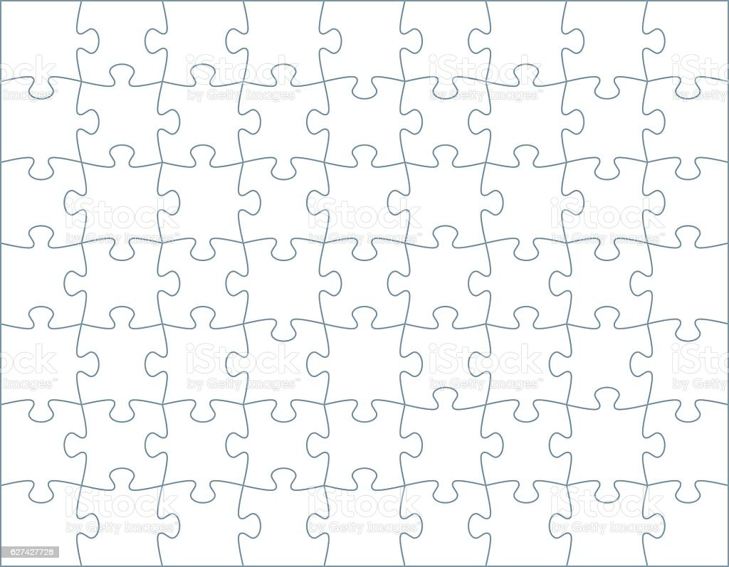 Horizontal Puzzle Template vector art illustration