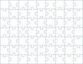 Horizontal Puzzle Template