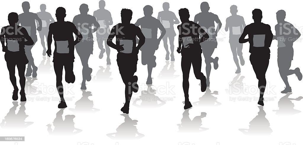 Horizontal runners royalty-free stock vector art