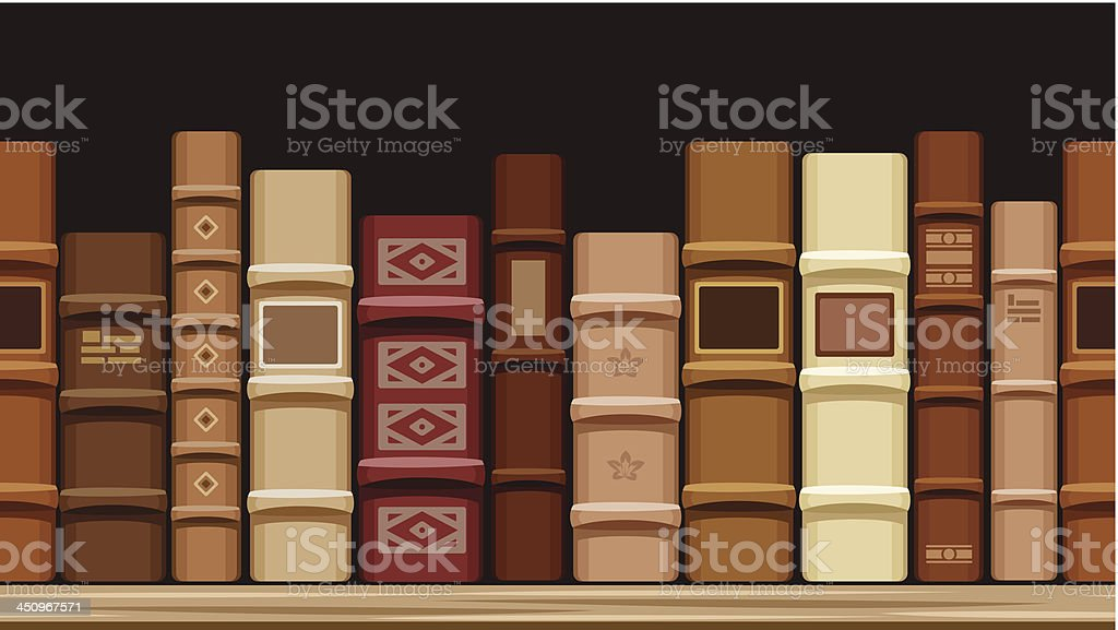 Horizontal seamless background with old books. Vector illustration. royalty-free stock vector art
