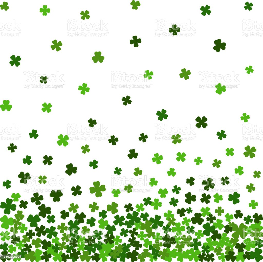 Horizontal seamless pattern for St. Patricks day. vector art illustration